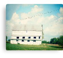 mead barn Canvas Print