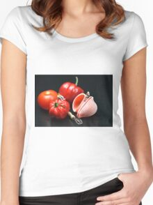 Adam And Eve's Cookbook  Women's Fitted Scoop T-Shirt