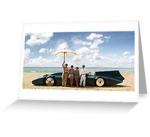 Bluebird V on Daytona Beach Greeting Card