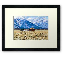 Homestead on Mormon Row Framed Print