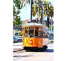 Number 1856 - Milan Streetcar in San Francisco  Photographic Print