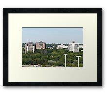 City Across The River Framed Print