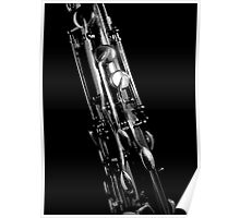 Saxophone keywork, 2 of 4 (top right) Poster