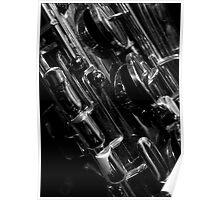 Saxophone keywork, 3 of 4 (bottom left) Poster