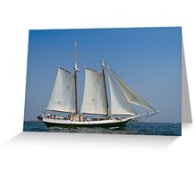 Schooner Liberty Clipper off Eastern Point Greeting Card