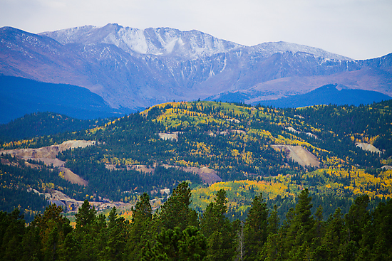 Colorado Rocky Mountain Autumn View by Bo Insogna