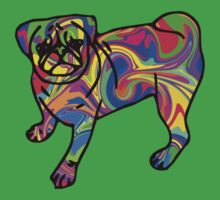 Colorful Pug One Piece - Short Sleeve