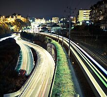 Railroad Night Scene by ninesmith33