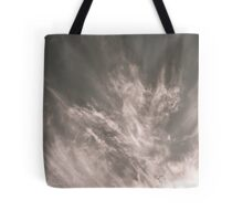 Sunset behind the trees Tote Bag