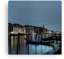 shore night scene Canvas Print