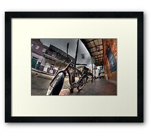 French Quarter Bicycle Framed Print