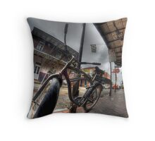 French Quarter Bicycle Throw Pillow