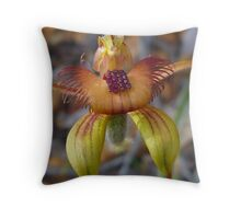 Bee Orchid Throw Pillow