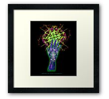 Consciousness in my palm Framed Print