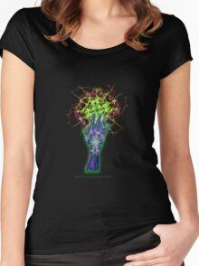 Consciousness in my palm Women's Fitted Scoop T-Shirt