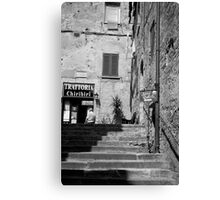to the trattoria Canvas Print