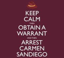 Carmen Sandiego Keep Calm Tribute by Christopher Bunye