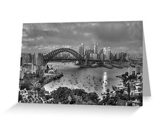 A Study In Black & White - Sydney Australia - The HDR Experience Greeting Card