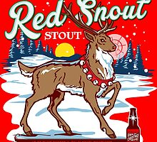 Rudolph's Red Snout Stout. A Christmas Brew by PistolPete315