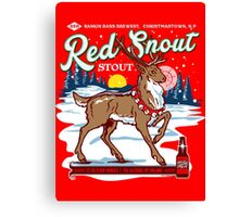 Rudolph's Red Snout Stout. A Christmas Brew Canvas Print