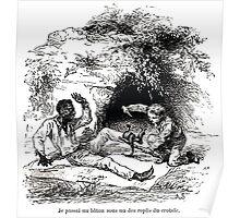 Achille Sirouy Mark Twain Les Aventures de Huck Huckleberry Finn illustration p069 Poster