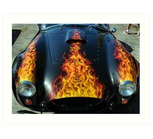 Flamin' Hot Cobra Art Print