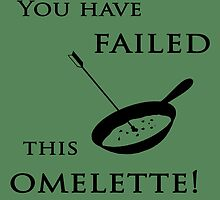 Arrow You have failed this omelette! by trevorhelt