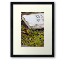 Pushing Up Pestilence Framed Print