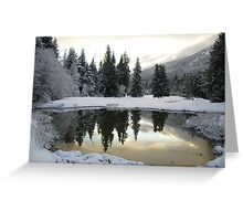 Snowy Golf course Greeting Card