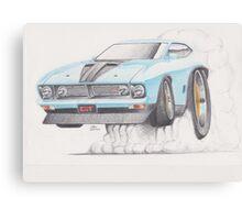 XB GT Burn out by Glens Graphix Canvas Print