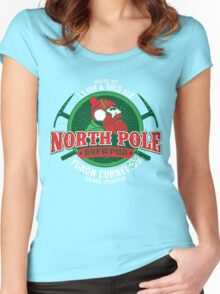 Yukon Cornelius North Pole Brewpub Women's Fitted Scoop T-Shirt