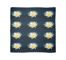 White and Yellow Water Lily Scarf