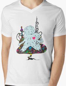 Hookah Monster Mens V-Neck T-Shirt