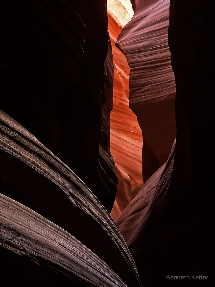 Upper Antelope Canyon Colors by Kenneth Keifer