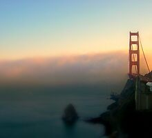 Sunset Blanketed in Fog by AmElysePhoto