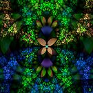 Bipolar Shapes-Mural 8 Flower Buds by plunder