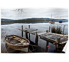 Row Boat on the Huon River Poster