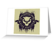 Creative Devil retro pattern Greeting Card