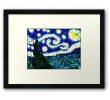 a scribbler starry night Framed Print