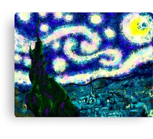 a scribbler starry night Canvas Print