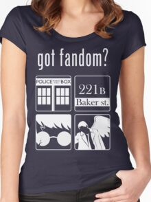 Got Fandom? Women's Fitted Scoop T-Shirt