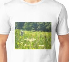 Birdhouse in field Unisex T-Shirt