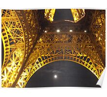 Paris eiffel tower by night Poster