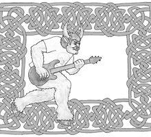 Minotaur Guitar by redqueenself