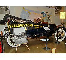 Yellowstone Speed Run 1915 Photographic Print