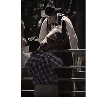 Cowboys Care Photographic Print
