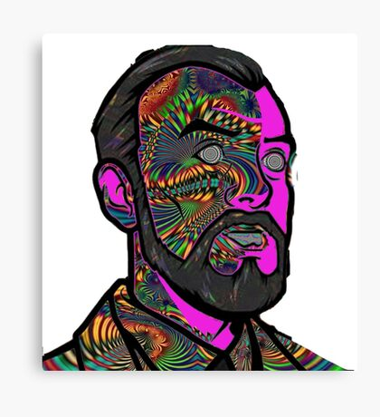 Psychedelic krieger Canvas Print