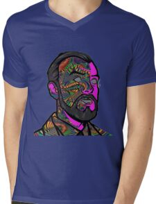Psychedelic krieger Mens V-Neck T-Shirt