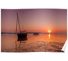Poole Sunset Poster
