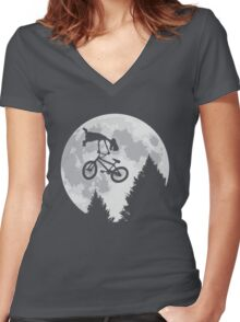 Cool E.T. Women's Fitted V-Neck T-Shirt